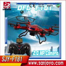 F181 Big RC Quadcopter 4CH 2.4GHz Remote Control parrot drone Helicopter COM with Camera HD 5MP CF Mode UFO Drone & U818A CX-20