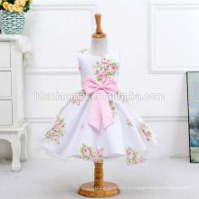 Горячая продажа Китай поставщик девочек платье с бантом цветок девочки платья для свадеб