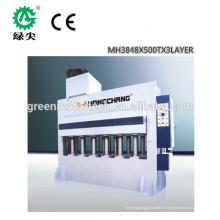beliebte zuverlässige Melamin Laminiermaschine / automatische Melamin Heißpressmaschine / kombinierte Holzbearbeitungsmaschine