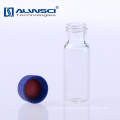 HPLC vial amber screw vial Agilent Quality bottle boron silicate with spiral
