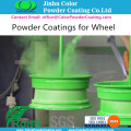 Aluminum wheel powder coatings