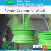 Aluminum wheel powder coatings