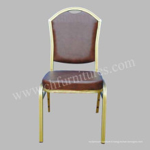 Chaise empilable d'hôtel avec le cuir (YC-ZL26-01)