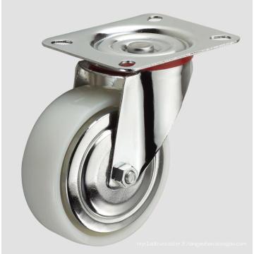 Roulette en nylon industrielle de 3 pouces sans frein