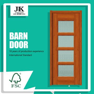 JHK-Glass Panel Mini Freezer Interior French Glass Door