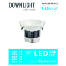 Shenzhen singming shine led down light LED recessed housing 5inch 18W led downlight