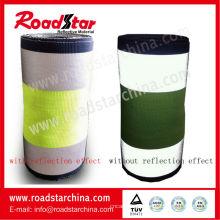 10,7 cm de largura multi colorido reflexiva cintas de poliéster