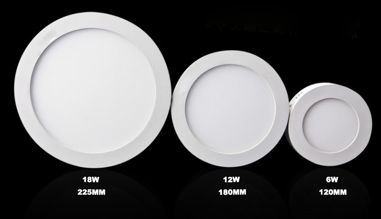 12W Surface Mounted LED Round Panel Lights
