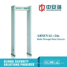 3 tipos puerta del detector de metales de la alta precisión del modo del IR con 18 zonas