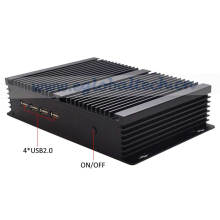 Industrial Fanless Mini PC Desktop Computer Celeron 1037u with Dual RJ45 and 4 COM RS232 Port