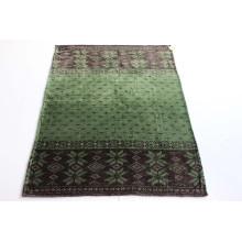 New Super Soft Flannel Fleece Blanket- (green&brown) / Baby Blanket