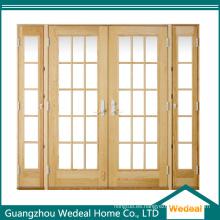 Estilo deslizante de cristal de puerta de patio de madera para proyecto