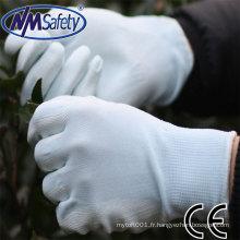 NMSAFETY travail léger utiliser weiss PU Handschuh utiliser des gants de sécurité travail gants EN388