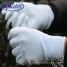 NMSAFETY легкую работу использовать Вайсс ПУ Гендшухом использовать защитные перчатки рабочие перчатки ладони en388
