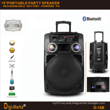 Outdoor Active Mobile Digital PA Mobile Bluetooth Trolley Speaker Box