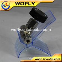 Gas 3000PSI 1/4 stainless steel 316 ptfe needle valve