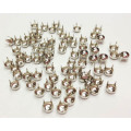 Dome Nailheads 4 Prongs, Long Leg Pearl Nailheads 4mm