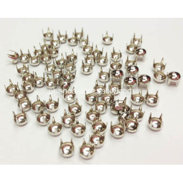 Dome Nailheads 4 Prongs, Perna comprida Nailheads 4mm