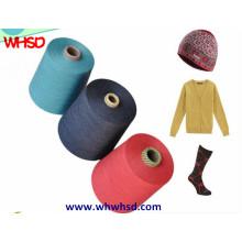 Hilado de lana de nylon mezclado de la cachemira para hacer punto y tejer