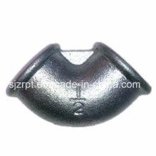Accesorios de tubería de hierro maleable de codo galvanizado con cuentas