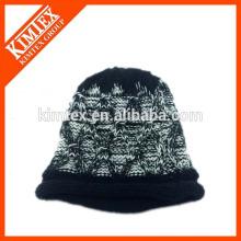 Moda acrílico islandés cable grueso tejido más grueso bobble sombrero beanie