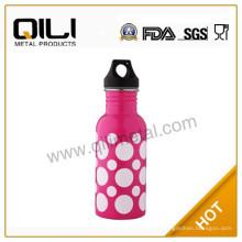 Бутылка воды прекрасный из нержавеющей стали с круглой dot дизайн