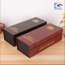 Hochwertige benutzerdefinierte High-End-Papier-Verpackung Wein-Box-Hersteller