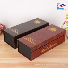 Embalagem de papel de alta qualidade personalizado de alta qualidade fabricantes de caixa de vinho