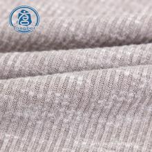 tissu tricoté hacci côtelé jacquard polyester rayonne flammée