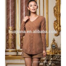 100% Kaschmir Frauen lange Strickpullover Pullover