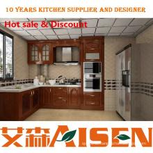 Fabrik Versorgung L Form kleine Massivholz Küche Design