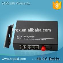 HR 1/2/4/8/16-Channel Vidéo amd Data transmite Convertisseur vidéo numérique à fibre optique