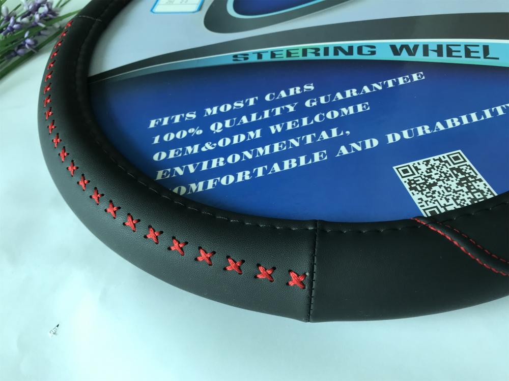 red line steering wheel cover