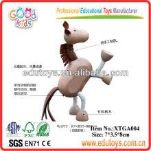 Brinquedos educativos de cavalo de madeira para crianças