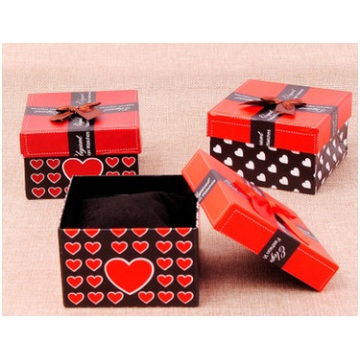 Earrings Box for Jewelry Packing Box, Red Heart Paper Box