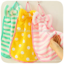 wholesale promotional cheap cute hand towel coral fleece hanging kitchen decorative hand towel