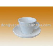 Taza de café y platillo de cerámica de 180cc