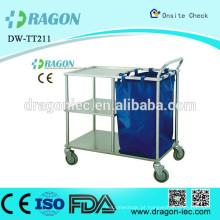 DW-TT211 carrinho de aço inoxidável de tratamento médico para instrumentos cirúrgicos
