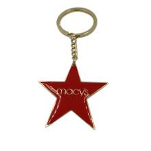 Souvenir Gifts Promotional Epoxy Metal Star Keychain