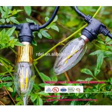 Удлинитель 21 лампы Влагозащищенные 48Ft ЕС Вилка Великобритании Глобуса СИД декоративный Открытый огни строки СЛТ-160