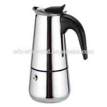 6 Tasse Moka Espresso Edelstahl tragbare Kaffeemaschine