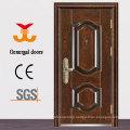 ISO9001 Heat Grain exterior metal steel safety door