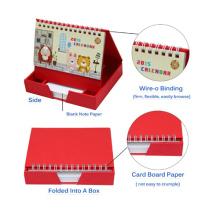 New Design Spiral Binding Paper Desk Calendar