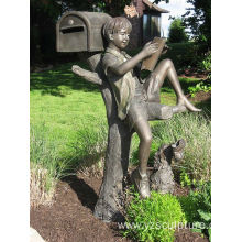 Outdoor Bronze Mailbox Statue for Sale