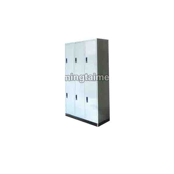 Stainless Steel Seat Six Door Wardrobe