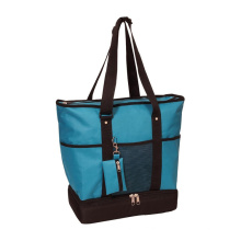 Large Oxford Insulated Lining Tote Bags Function Shopping Bags with Small Purse