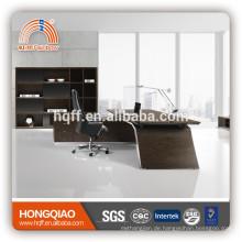 DT-12 Holz Büro Schreibtisch Edelstahl Tisch Basis Büro Executive Schreibtisch