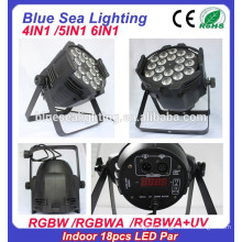 China Alibaba Indoor dmx 18x18w rgbaw uv led stage par light