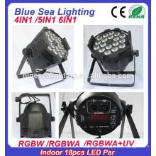 4in1 / 5in1 / 6in1 18pcs 12w RGBW 4in1led luz do estágio do par interno