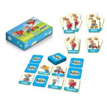 Crianças que ensinam cartão de memória educacional portátil MEMO GAME